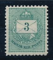 ** 1874 3kr 11 1/2 Fogazással, Hibátlan, Szép Friss Szín? Darab R! (24.000) - Stamps