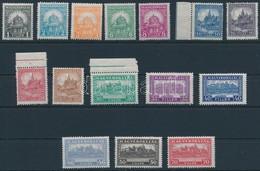 ** 1926 Peng?-fillér I. Szinte Komplett A Sor, 4f Hiányzik (24.700) (ráncok / Creases) - Stamps