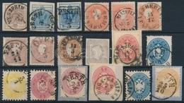 * O 1850-1864 18 Db Bélyeg és Kivágás - Stamps