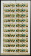 ** 1961 Bélyegnap (34.) - Budapest Panoráma Hajtott Teljes ív (20.000) - Stamps