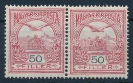 ** 1908 Turul 50f I.-es és II-es Típus Párban - Stamps