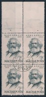 O 1953 Marx Négyestömb 11 1/2 : 11 3/4 Fogazással, Nagy Fels? ívszéllel - Stamps