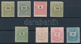 ** (*) * 8 Db Krajcáros Bélyeg Közte Képbefogazott 1889 5kr Postatiszta - Stamps