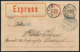 1911 Díjkiegészített Díjjegyes Expressz Ajánlott Levelez?lap - Stamps