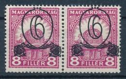 ** 1931 Kisegít? 506 Pár Látványosan Felfelé Tolódott Felülnyomással - Stamps