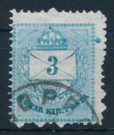 O 1874 3kr Kék Szín? Bélyeg - Stamps