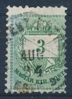 O 1881 3kr Rendkívül Keskenyre Fogazott Bélyeg - Stamps