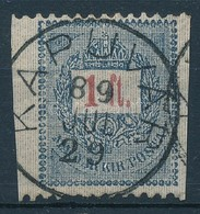 O 1889 1 Ft Függ?legesen Fogazatlan - Stamps