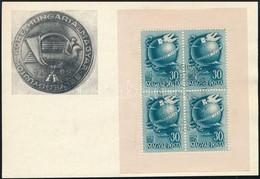 1948 Bélyegnap Kisív Els?napi Alkalmi Bélyegzéssel Levelez?lapon (15.000) - Stamps