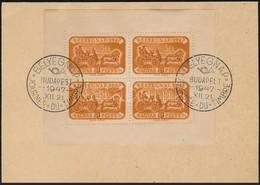 1947 Bélyegnap Kisív Els?napi Levelez?lapon (15.000) - Stamps