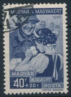 O 1939 Magyar A Magyarért 40f, '-40' Lemezhiba (10.000) - Stamps