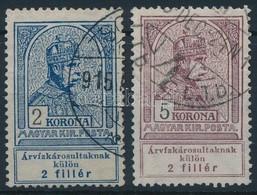 O 1913 Árvíz 2K, 5K (14.000) - Stamps