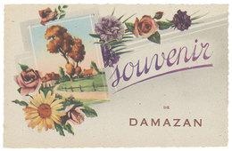 Cpa Fantaisie : Souvenir De Damazan - France