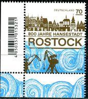 BRD - Mi 3395 ECKE LIU - ** Postfrisch (M) - 70C      800 Jahre Hansestadt Rostock - Ausgabe: 07.06.2018 - [7] West-Duitsland