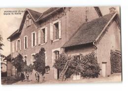 CPA 71 Pourlans Mairie Et Ecoles - France