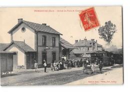 CPA 27 Thiberville La Gare Et Le Train Tramway - Frankreich