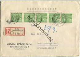 Ortsbrief Berlin - 50 Pf. Bauten R-Brief Am 12.September 1951 - Rückseitig Mehrere Vermerke - Berlin (West)