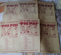 Partition Ancienne   Lot De 6 Partitions PHI-PHI - Noten & Partituren
