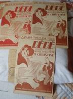Partition Ancienne   Lot De 3  Partitions DEDE - Noten & Partituren