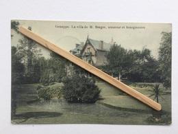GENAPPE»LA VILLA  DE M.BERGER ,SÉNATEUR Et  LE BOURGMESTRE «Superbe panorama Couleur (Maison Decelle). - Genappe