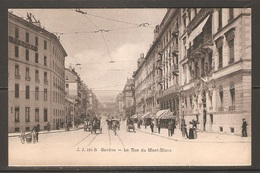 Carte P ( Suisse / Genève / La Rue Du Mont.Blanc ) - GE Ginevra