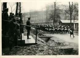 140618 - PHOTO DE PRESSE 1939 MILITARIA ROYAUTE Visite Roi D'Angleterre Front Français Musique Régiment Tambour - War, Military