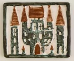 Iparm?vészeti Vállalatos Kerámia Falikép, Jelzett, Hibátlan, 17×14 Cm - Ceramics & Pottery