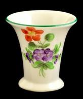 Herendi Fogpiszkálótartó, Kézzel Festett, Jelzett (koronás), Hibátlan, M:5 Cm - Ceramics & Pottery