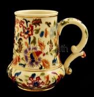 Cca 1890 Fischer Ignác Korsó, Kézzel Festett, Aranyozott Porcelánfajansz, Arany Festés Több Helyen Lekopott, Jelzett 'Fi - Ceramics & Pottery