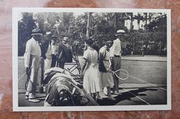 CANNES (06) - BEAU-SITE - LE TENNIS - LE ROI DE SUEDE, LORD BALFOUR, Mlle LENGLEN, Mrs. BEAMISH - Cannes