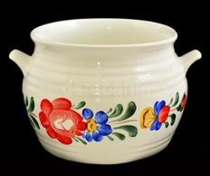 Gránit Edény, Kézzel Festett, Jelzett, D:13 Cm, M:10 Cm - Ceramics & Pottery