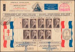 KLM-Luftpost NL-Ind.-Suriname Snip 15.12.1934 BATAVIA 4.12. N. PARAMARIBO 20.12. - Airmail