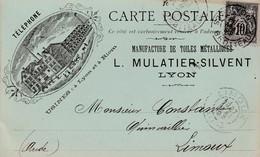 Lyon - Mulatier/Silvent - Toiles Métalliques - 1893 - Advertising