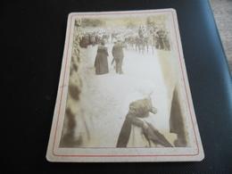 Photographie Ancienne Mariage En Voiture Avec Attelage Et Procession, Fin 19ème Siècle - Oud (voor 1900)