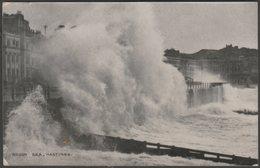 Rough Sea, Hastings, Sussex, 1920 - Shoesmith & Etheridge Postcard - Hastings