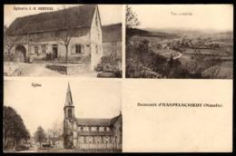 Souvenir D'HASPELSCHIEDT (Moselle) Epicerie Berthel - Eglise - Vue Générale - Autres Communes