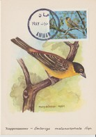Carte Maximum 1987 Oiseaux 1228 - Jordanië