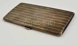 Ezüst (Ag) Art Deco Cigarettatárca, Belül Aranyozott, Jelzett (900),  15×7,5 Cm, Nettó: 184 G - Unclassified