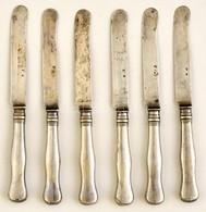 Ezüst(Ag) Kések, 6 Db, Jelzett, H: 20 Cm, Nettó: 271 G - Unclassified