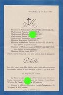 WEGNEZ  Pepinster  1960 Colette Enfant Des époux NEUPREZ DEHOTTAY - Obituary Notices