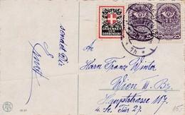 Gedenket Der Darbenden. Vignette Auf Ansichtskarte - 1. Weltkrieg