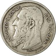 Monnaie, Belgique, 2 Francs, 2 Frank, 1909, TB+, Argent, KM:59 - 1865-1909: Leopold II