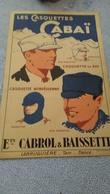 PUBLICITE Pour CASQUETTES De SKI ,  ETS CABROL & BAISSETTE  LABRUGUIERE   TARN,,,,  Carton Epais  ,,, 23 X  36  Cm,,,TBE - Winter Sports