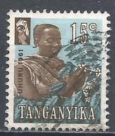 Tanganyika 1961. Scott #47 (U) Coffee Picker * - Timbres