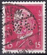 Deutsche Reich, 1928/32 - 15pf Von Hindenburg, Perfin WC - Usato° Nr.374 - Germania