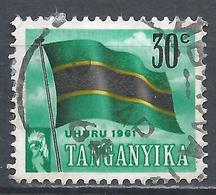 Tanganyika 1961. Scott #49 (U) Flag * - Timbres
