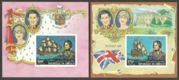 DJIBOUTI 1981 ROYAL WEDDING CHARLES & DIANA SHIPS NELSON DELUXE M/SHEETS IMPERF MNH - Djibouti (1977-...)
