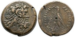2 PTOLOMEO III Euergetes. AE33. Alejandría (Egipto). A/ Cabeza Diademada De Zeus A Derecha. R/ Aguila A Izquierda Con Co - Spain
