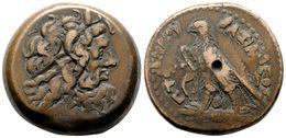 3 PTOLOMEO IV Philopator. AE32. Alejandría (Egipto). A/ Cabeza Diademada De Zeus A Derecha. R/ Aguila A Izquierda Con Co - Spain