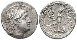 4 ANTIOCHOS VII. Tetradracma. 138-129 A.C. Reino Seleucida. A/ Cabeza De Antiochos Diademado A Derecha. R/ Athena De Pie - Spain